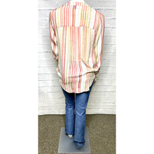 Load image into Gallery viewer, Striped Tab Tie Blouse