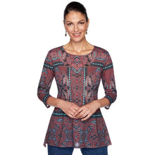 Load image into Gallery viewer, Paisley Kaleidoscope Print Top