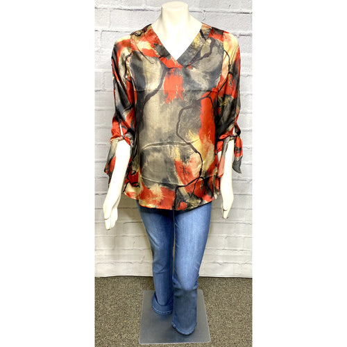 Silky Abstract Blouse