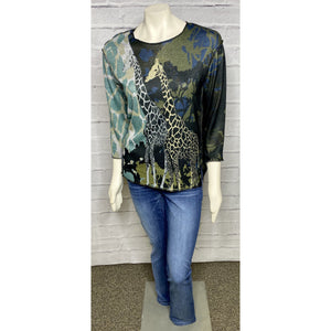 Giraffe Wild Safari Knit Top