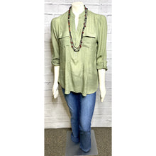 Load image into Gallery viewer, Olive Camp Blouse