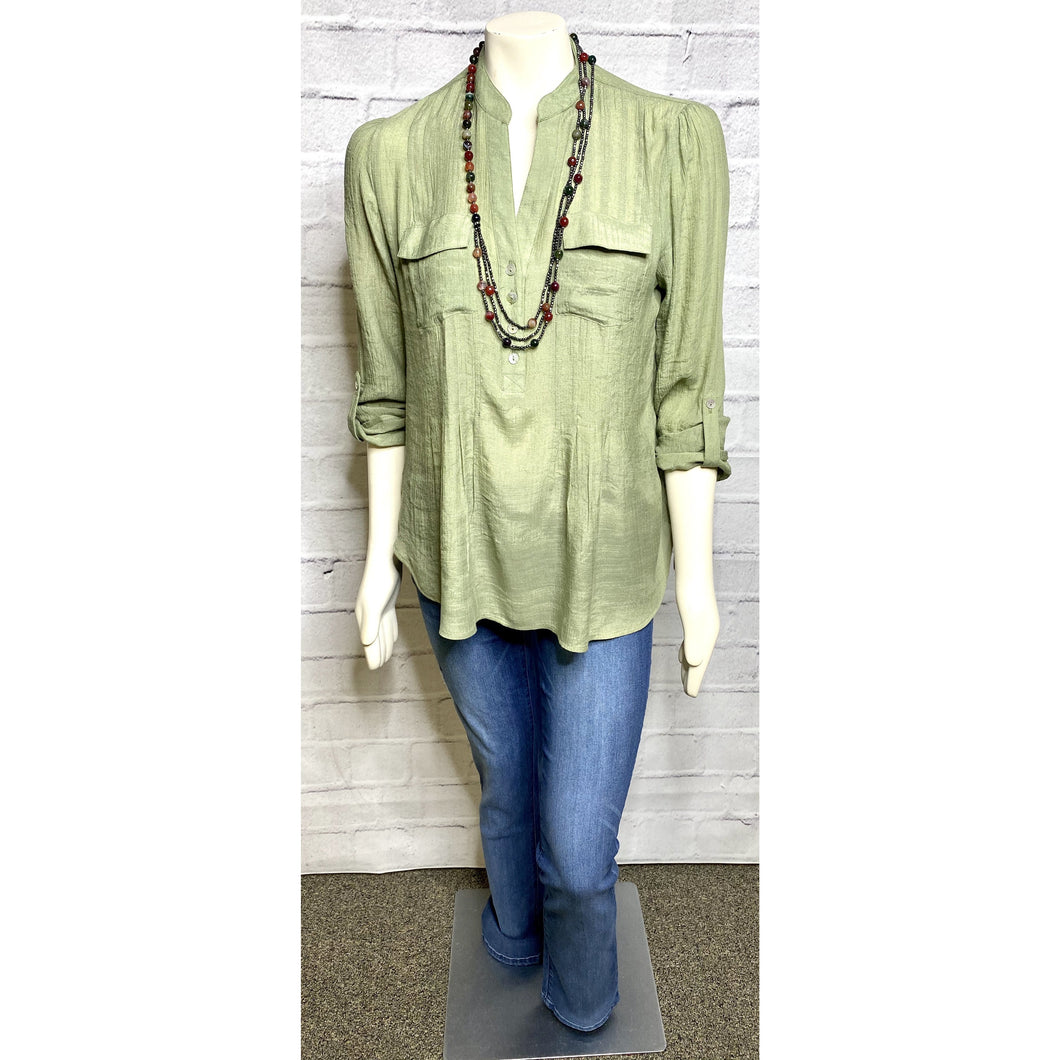 Olive Camp Blouse