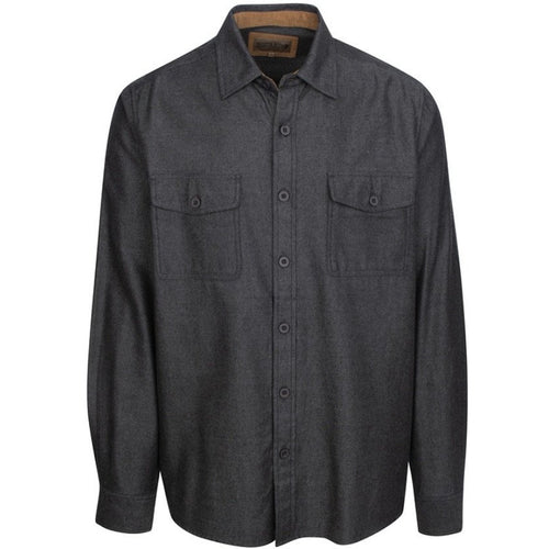Cotton/Tencel Woven Charcoal Gray Shirt