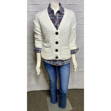 Load image into Gallery viewer, Cream White Popcorn Cardigan