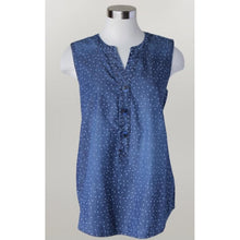 Load image into Gallery viewer, Denim Button Star Tank