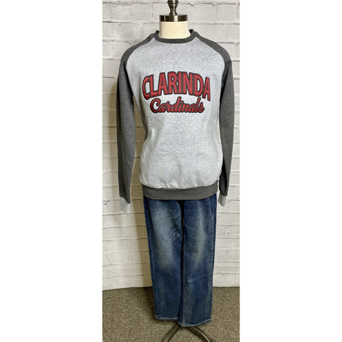 Embroidered Clarinda Crew Sweatshirt