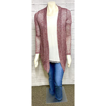 Load image into Gallery viewer, Lightweight Maroon Cardigan