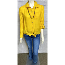 Load image into Gallery viewer, Mustard Tie Blouse