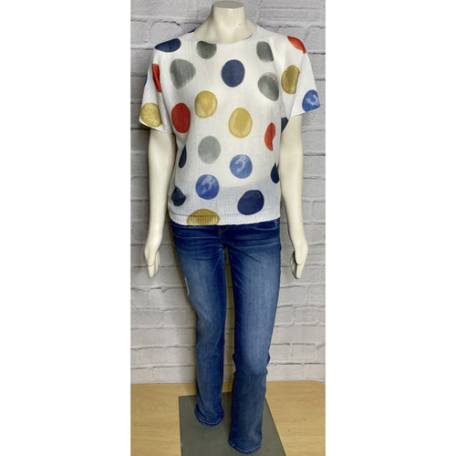 Dot Dolman Spring Sweater