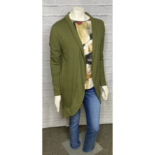 Load image into Gallery viewer, Lightweight Ribbed Olive Cardigan
