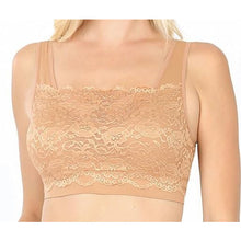 Load image into Gallery viewer, Lace Overlay Bralette