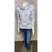 Load image into Gallery viewer, Cowl Neck French Terry Space Dye Sweater