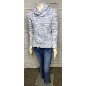 Cowl Neck French Terry Space Dye Sweater