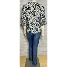 Load image into Gallery viewer, Ruffle Sleeve Animal Print Blouse