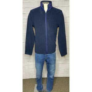 Navy Fleece Full Zip Top