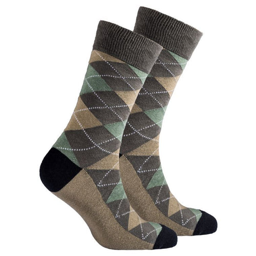 Men's Sage Argyle Socks