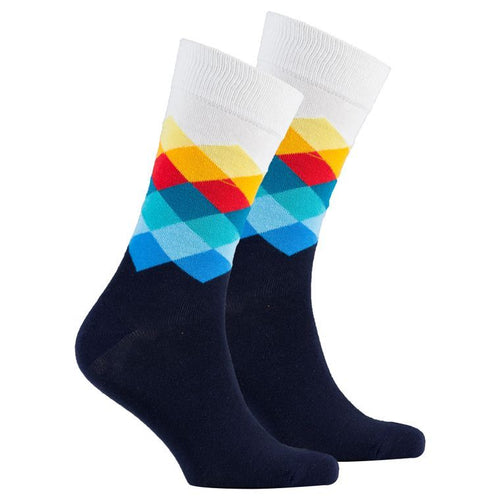 Men's Marine Diamond Socks