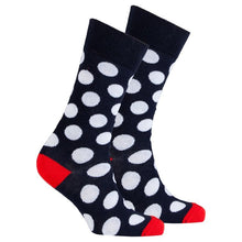 Load image into Gallery viewer, Men's Ruby Marine Dot Socks