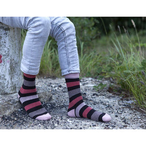 Men's Red Blush Stripe Socks