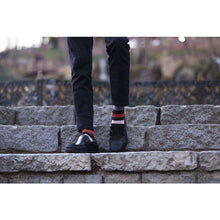 Load image into Gallery viewer, Men's Red Blush Stripe Socks