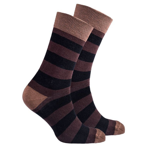 Men's Mocha Stripe Socks
