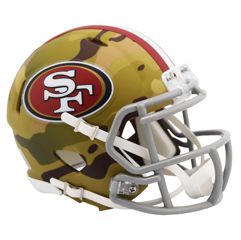 CASCO MINI SPEED CAMO 49ERS RIDDELL