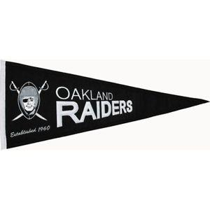 BANDERIN THROWBACK PENNANT RAIDERS