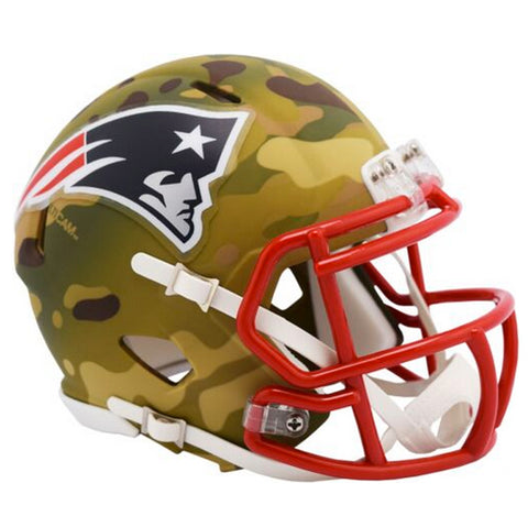 CASCO MINI SPEED CAMO PATRIOTS RIDDELL