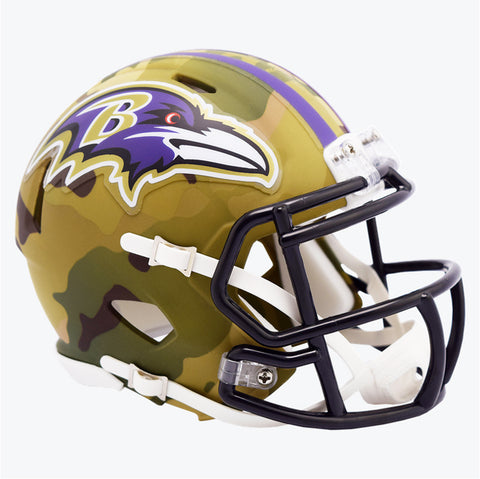 CASCO MINI SPEED CAMO RAVENS RIDDELL