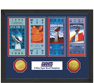 FOTO SUPER BOWL TICKET GIANTS