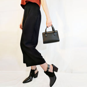 Wide leg black culotte trouser