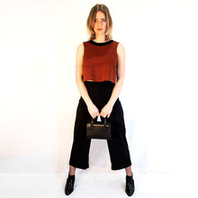 Load image into Gallery viewer, Wide leg black culotte trouser