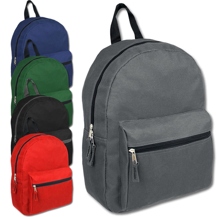Wholesale 15 Inch Basic Backpack - 5 Assorted Colors