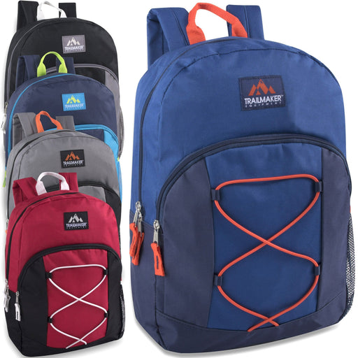 Wholesale Trailmaker 17 Inch Bungee Backpack With Side Pocket