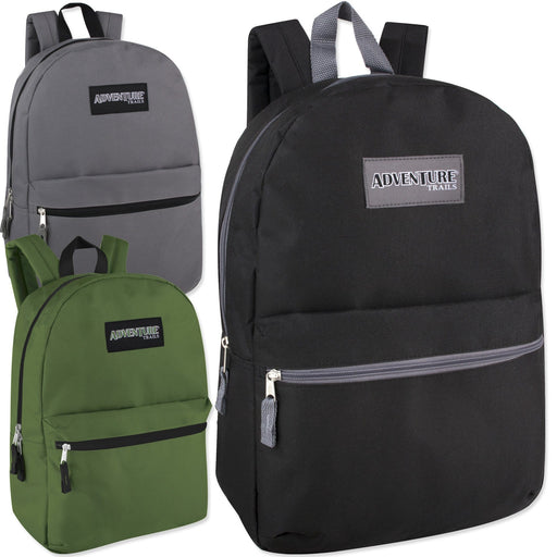 Wholesale Adventure Trails 17 Inch Backpack - 3 Colors -