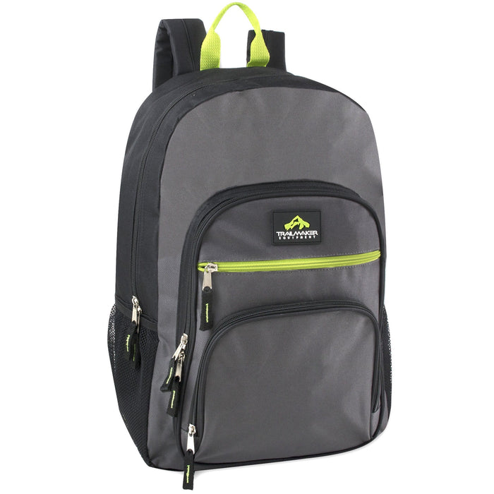 Wholesale Trailmaker Cargo Pockets 19 Inch Backpack With Padding - 5 Colors -