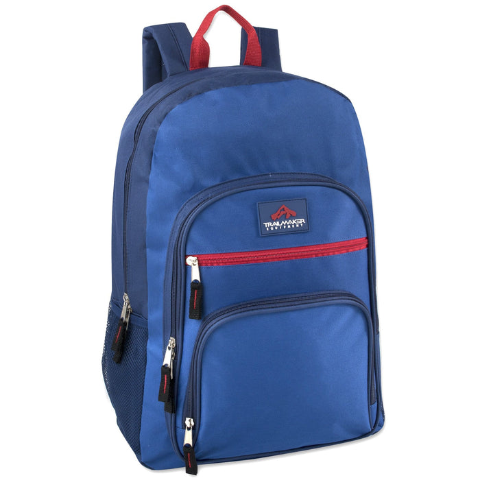 Wholesale Trailmaker Cargo Pockets 19 Inch Backpack With Padding - 5 Colors