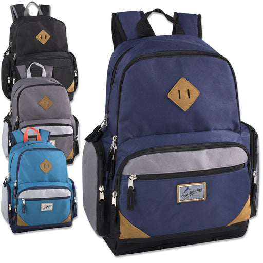 62665e001c Wholesale Trailmaker 19 Inch Duo Compartment Backpack with Laptop Sleeve