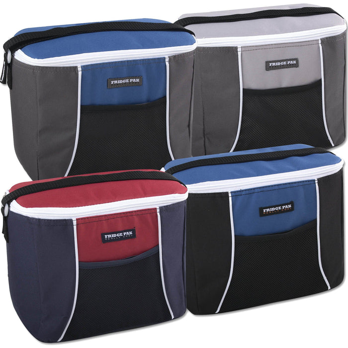 Wholesale Fridge Pak 12 Can Cooler Bag - 4 Colors -