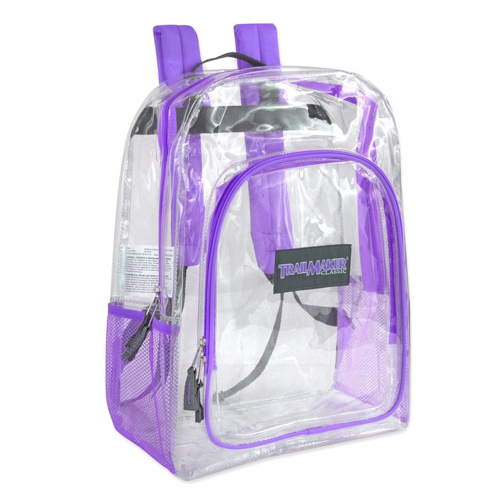 Wholesale Trailmaker Deluxe 17 Inch Clear Backpack -