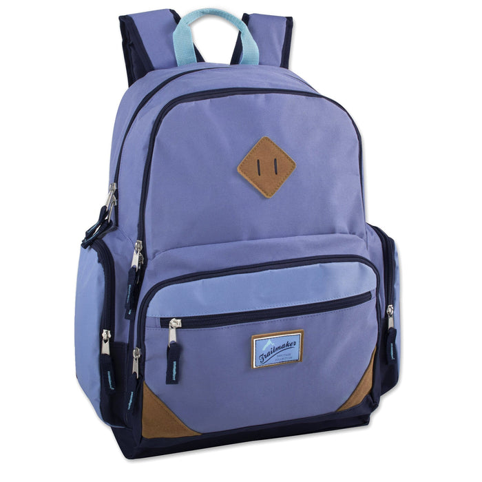 Wholesale Trailmaker 19 Inch Duo Compartment Backpack with Laptop Sleeve - 3 Girl Colors