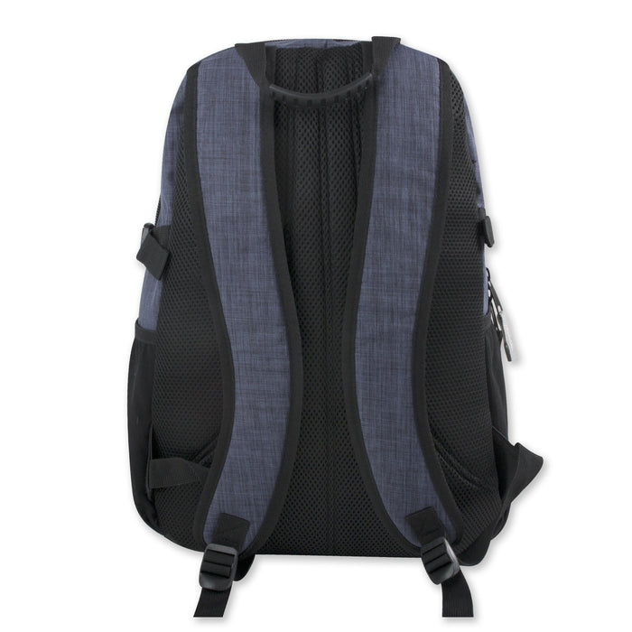 Wholesale 19 Inch Blue Heather Backpack With Laptop Sleeve -