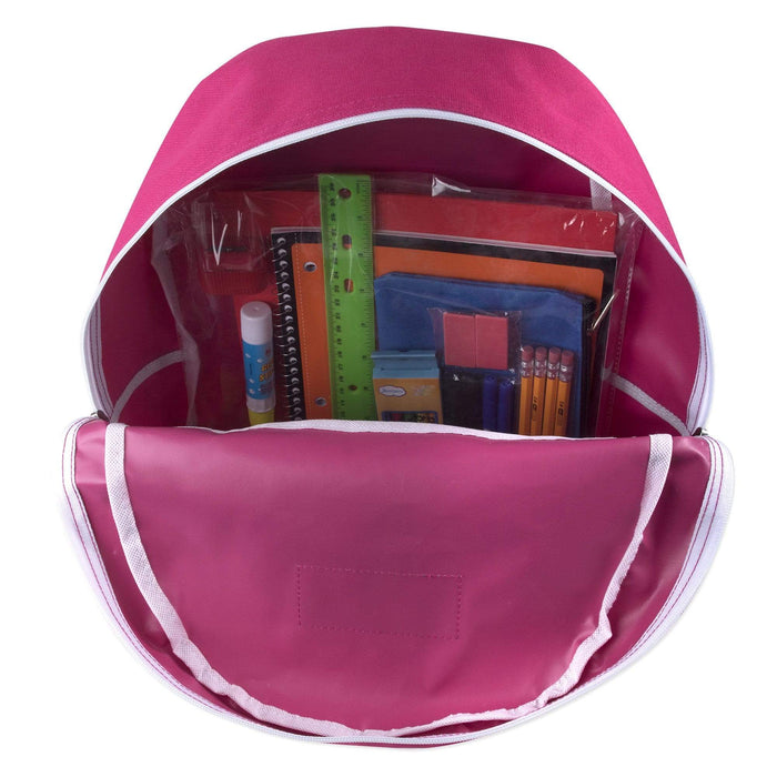 Preassembled 17 Inch Backpack & 20 Piece School Supply Kit - Girls -
