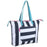Wholesale Cabana Stripe Beach Tote Bag - 15 Inch