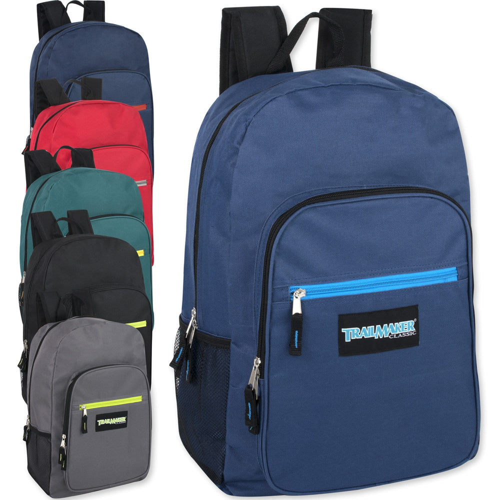 Wholesale Trailmaker Deluxe 19 Inch Backpack - 6 Colors