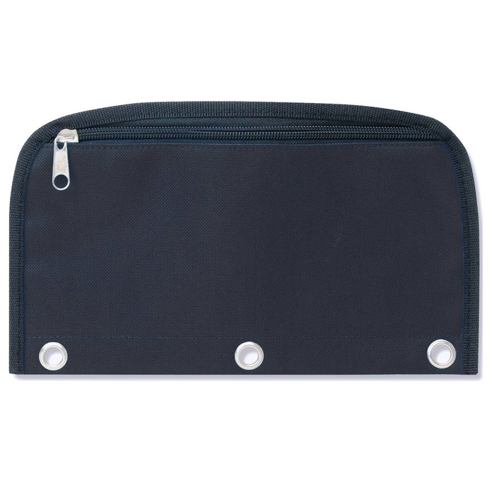 Wholesale 3 Ring Binder Dome Pencil Case - Black Only