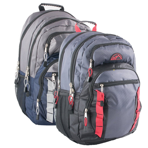 6b03ece757 Wholesale 19 Inch Mountain Edge Double Daisy Chain Backpack With Padded  Laptop Section - 2 Colors