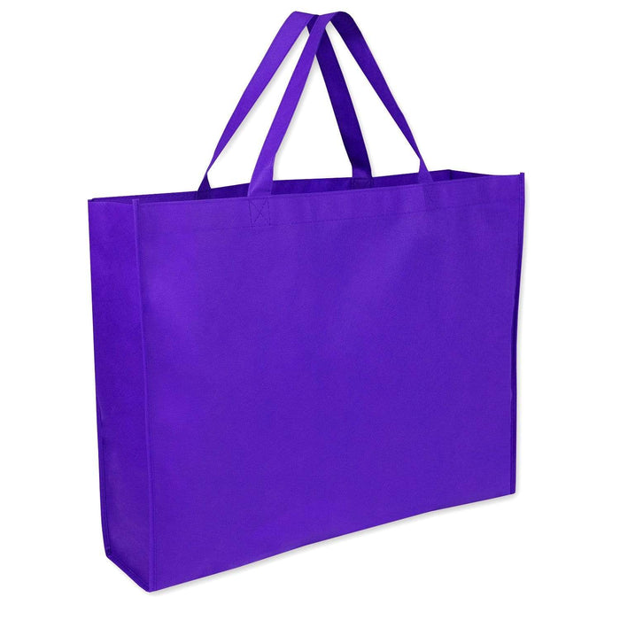 Wholesale 19 Inch Shopper Non Woven Tote Bag - Assorted Colors - 1 / Purple