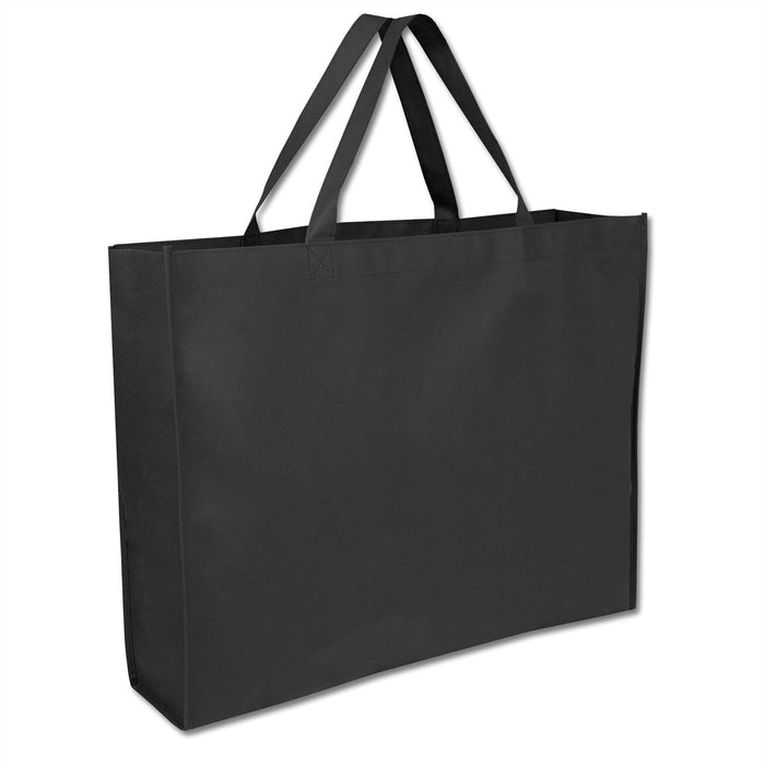 Wholesale 19 Inch Shopper Non Woven Tote Bag - Assorted Colors - 1 / Black