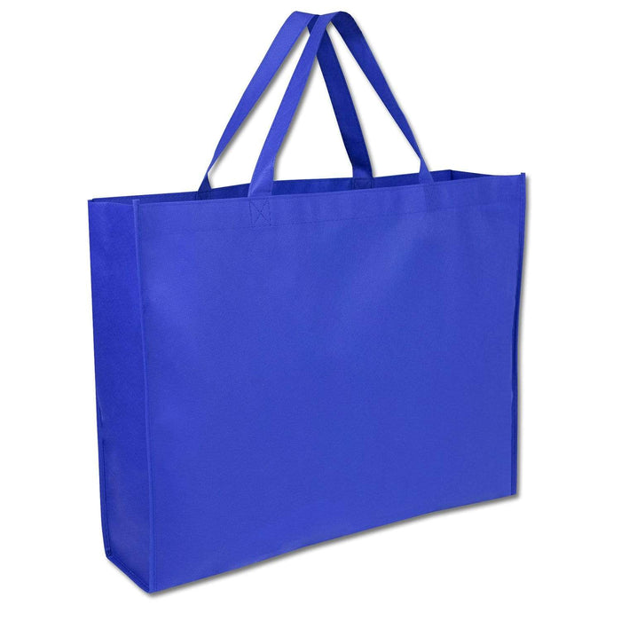Wholesale 19 Inch Shopper Non Woven Tote Bag - Assorted Colors - 1 / Navy